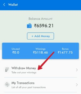 Redeem Money to get your money into PayTM wallet